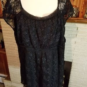 Fashion Bug 30/32 Black Lace Top